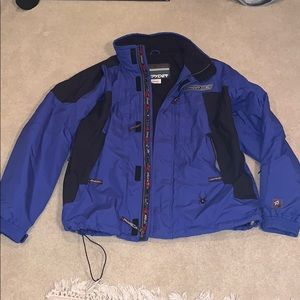 Blue Spyder Jacket lined with fleece. Size XL